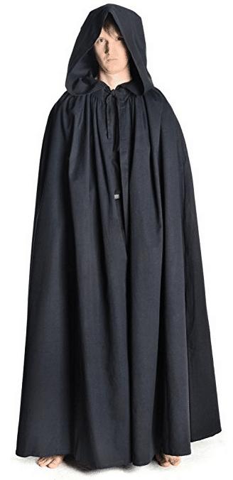 Mittelalter Umhang und Mantel mit Kapuze